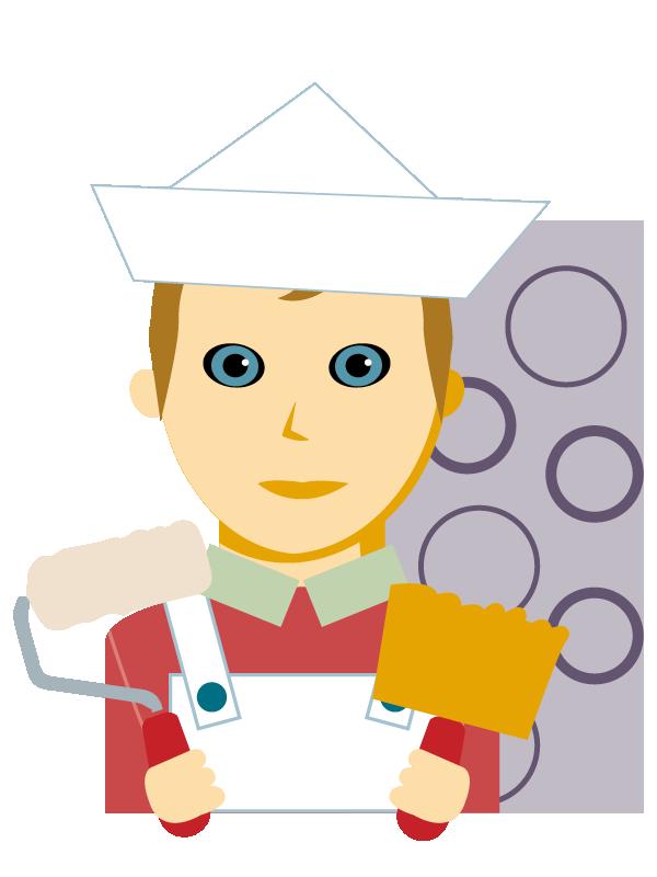 Emoji zum Beruf Tapezierer/in und Dekorateur/in