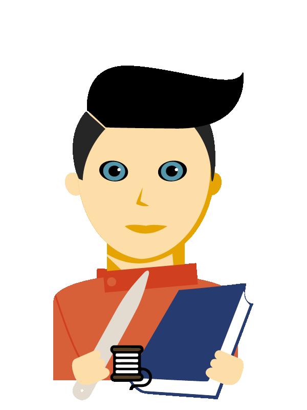 Emoji zum Beruf Buchbinder/in