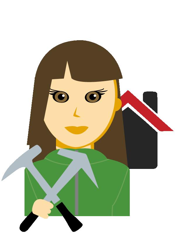 Emoji zum Beruf Dachdecker/in