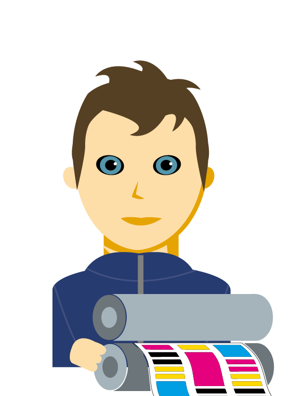 Emoji zum Beruf Drucktechnik