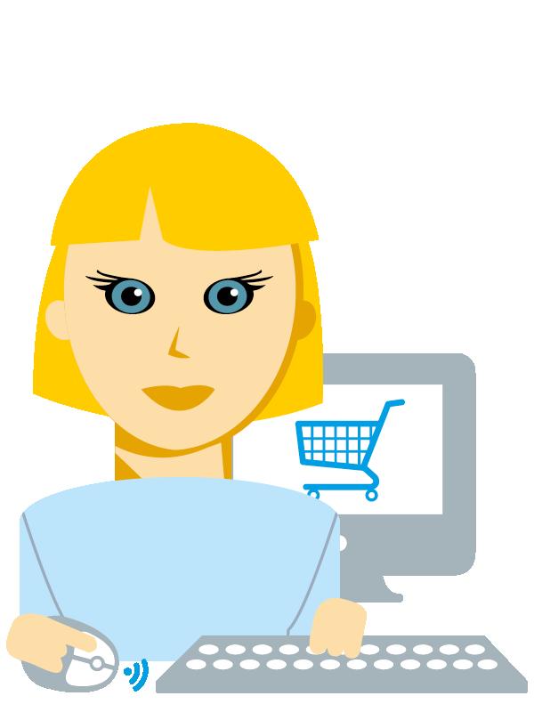 Emoji zum Beruf E-Commerce Kaufmann/-frau