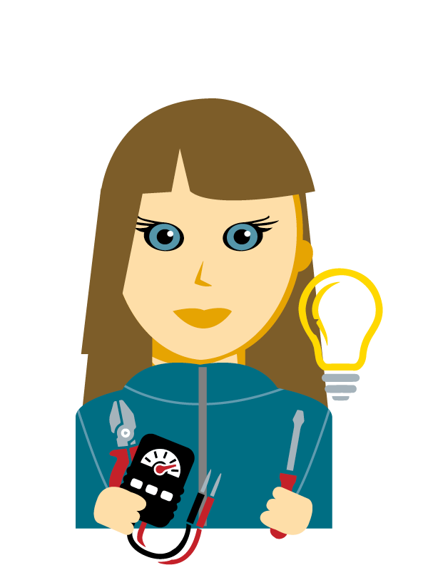 Emoji zum Beruf Elektrotechnik