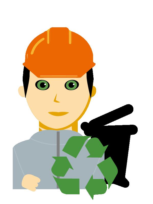 Emoji zum Beruf Entsorgungs- und Recyclingfachmann/-frau