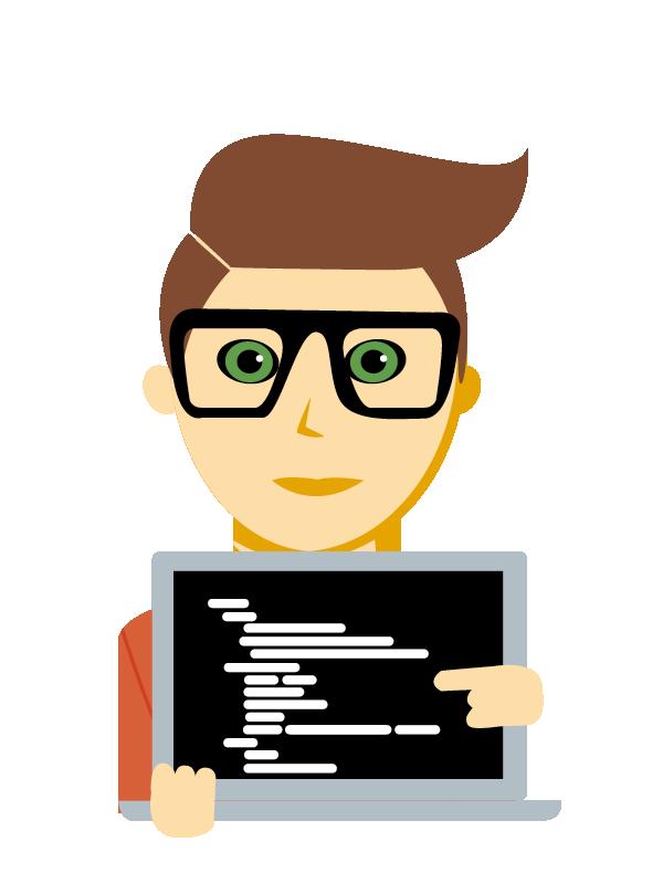 Emoji zum Beruf Applikations-Entwicklung - Coding