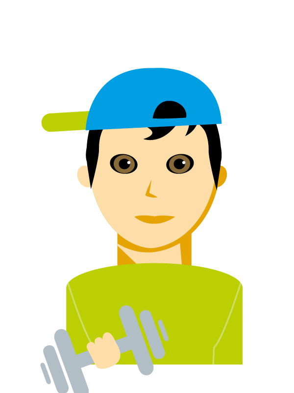 Emoji zum Beruf Fitnessbetreuung