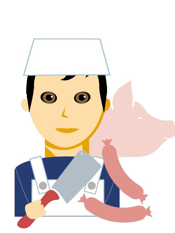 Emoji zum Beruf Fleischverarbeitung