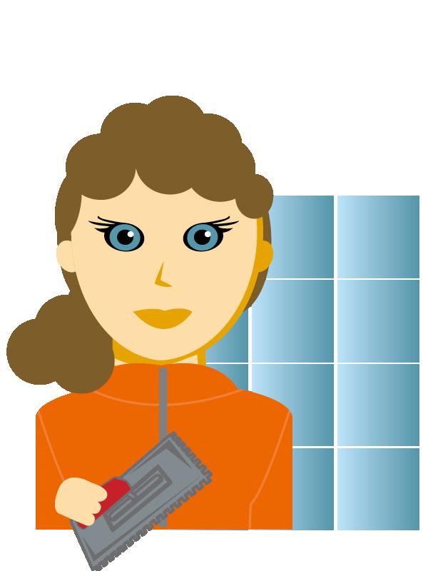 Emoji zum Beruf Platten- und Fliesenleger/in