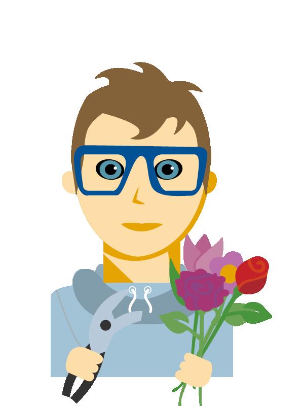 Emoji zum Beruf Florist/in