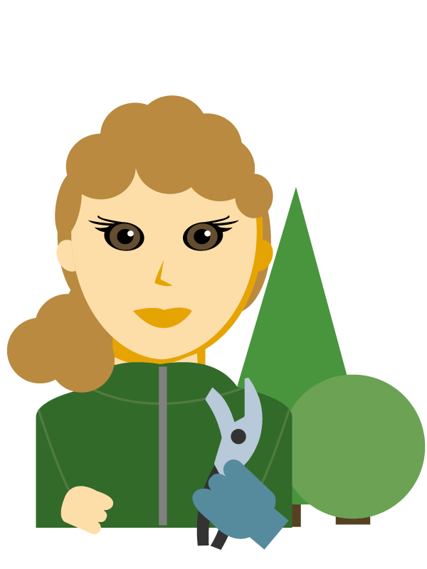 Emoji zum Beruf Garten- und Grünflächen-Gestaltung