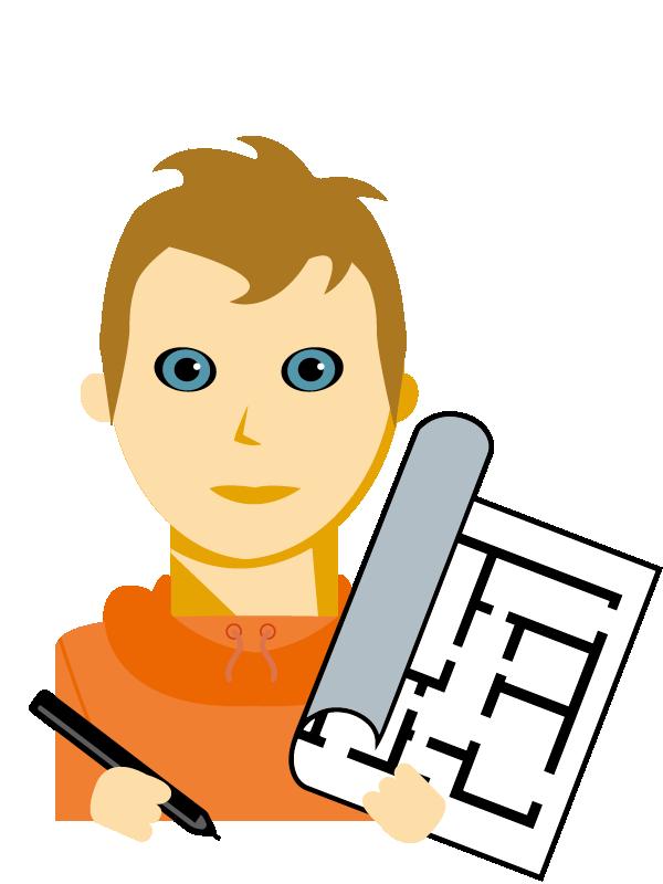 Emoji zum Beruf Bautechnische/r Zeichner/in