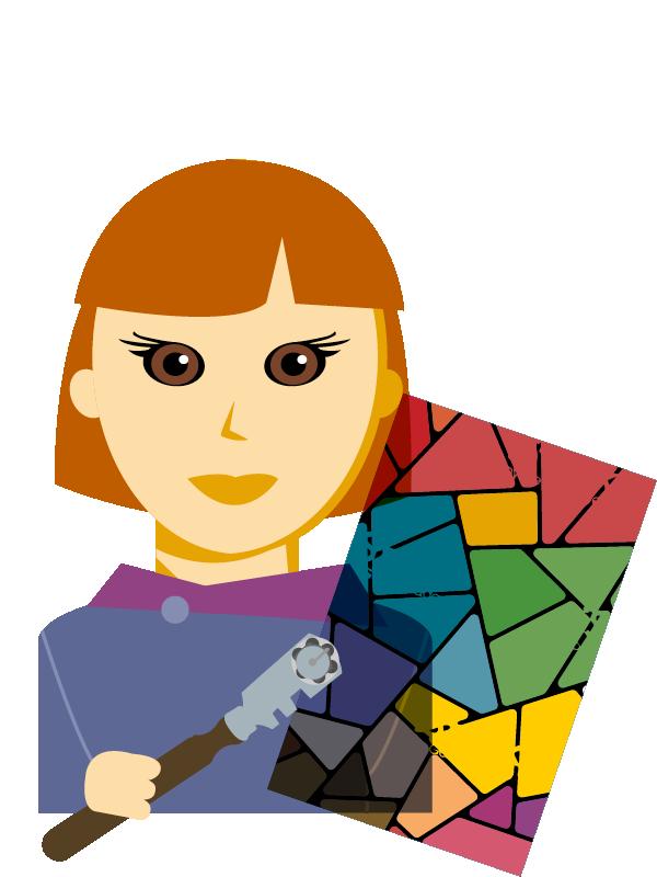 Emoji zum Beruf Glasbautechnik
