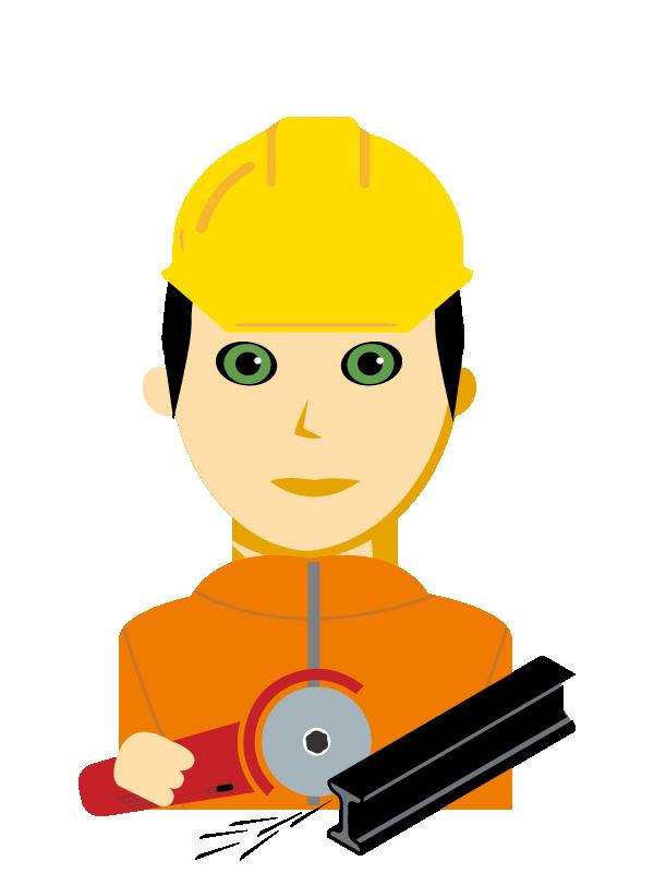 Emoji zum Beruf Gleisbautechnik