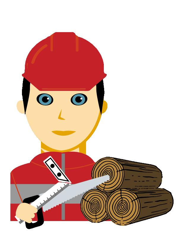 Emoji zum Beruf Holztechnik