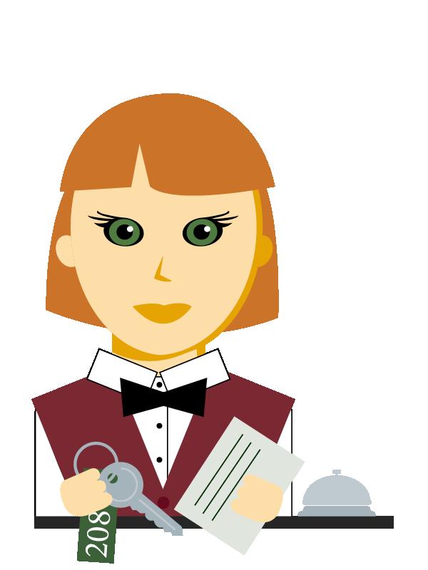 Emoji zum Beruf Hotel- und Gastgewerbe-Assistent/in