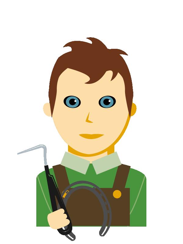 Emoji zum Beruf Hufschmied