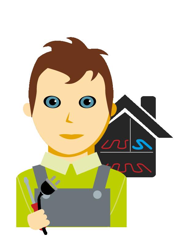 Emoji zum Beruf Installations- und Gebäudetechniker/in