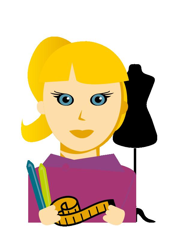 Emoji zum Beruf Bekleidungs-Gestaltung