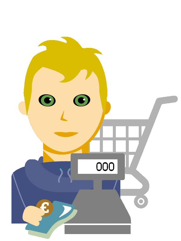 Emoji zum Beruf Einzelhandel
