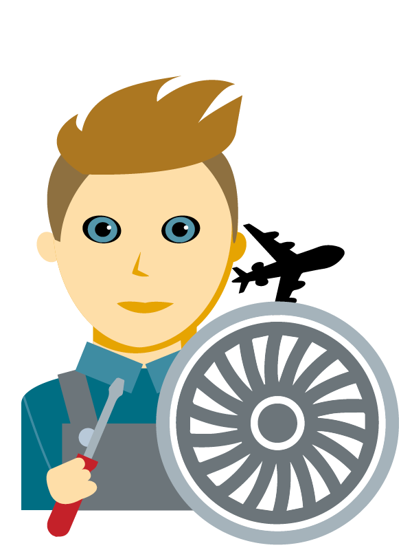 Emoji zum Beruf Luftfahrzeugtechnik