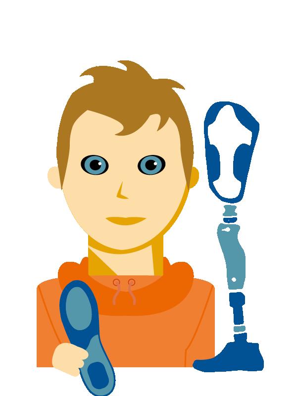 Emoji zum Beruf Orthopädietechnik