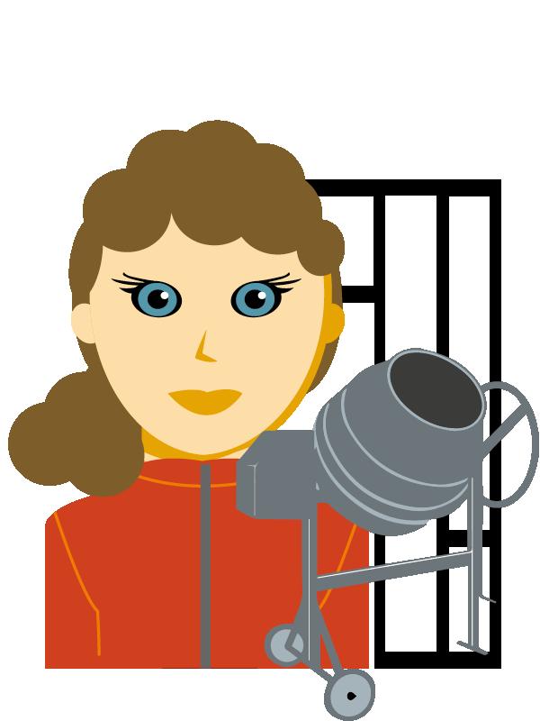 Emoji zum Beruf Betonfertigungs-Technik