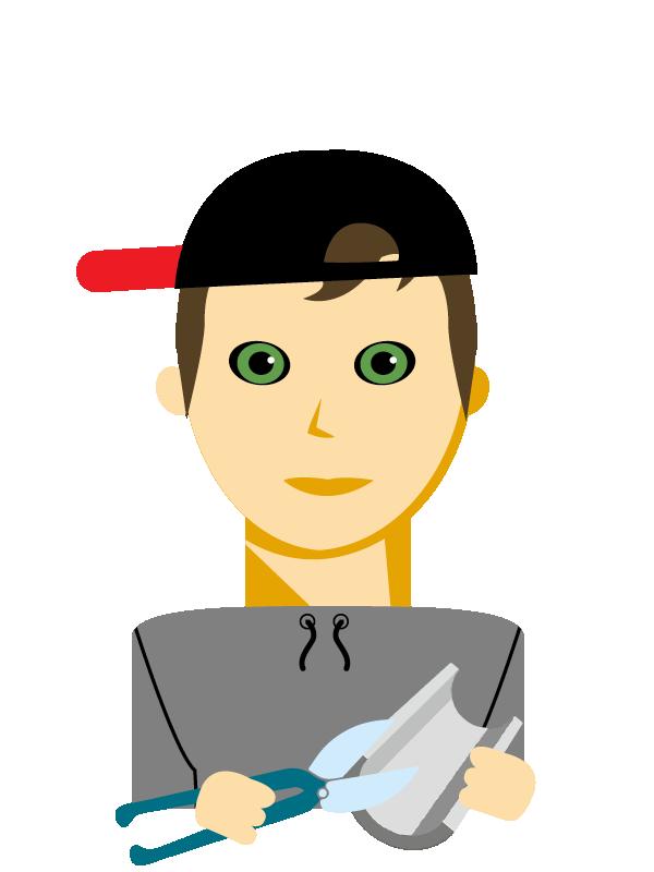 Emoji zum Beruf Spengler/in