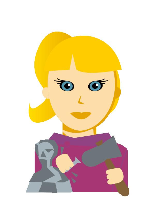 Emoji zum Beruf Steinmetz/in