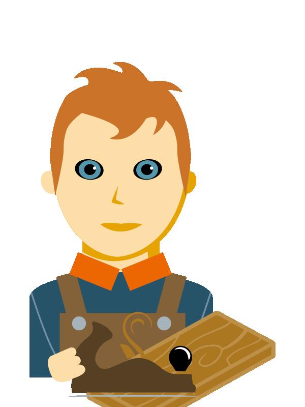 Emoji zum Beruf Tischler/in