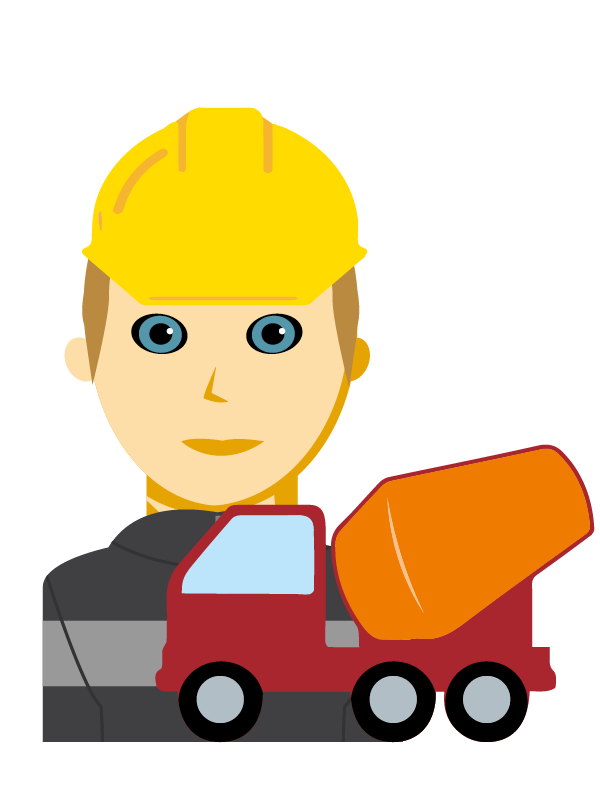 Emoji zum Beruf Transportbeton-Technik
