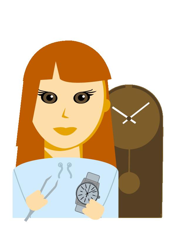 Emoji zum Beruf Uhrmacher/in - Zeitmesstechniker/in