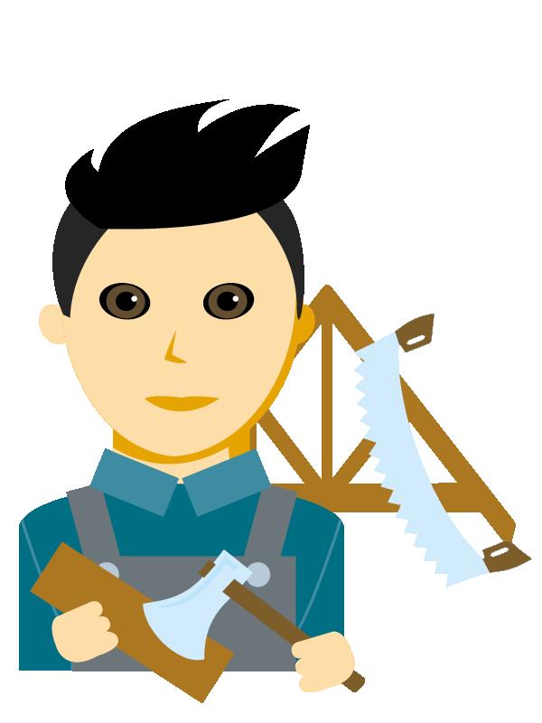 Emoji zum Beruf Zimmerer/in