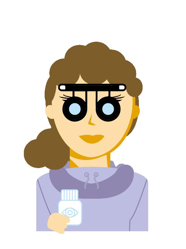 Emoji zum Beruf Augenoptiker/in