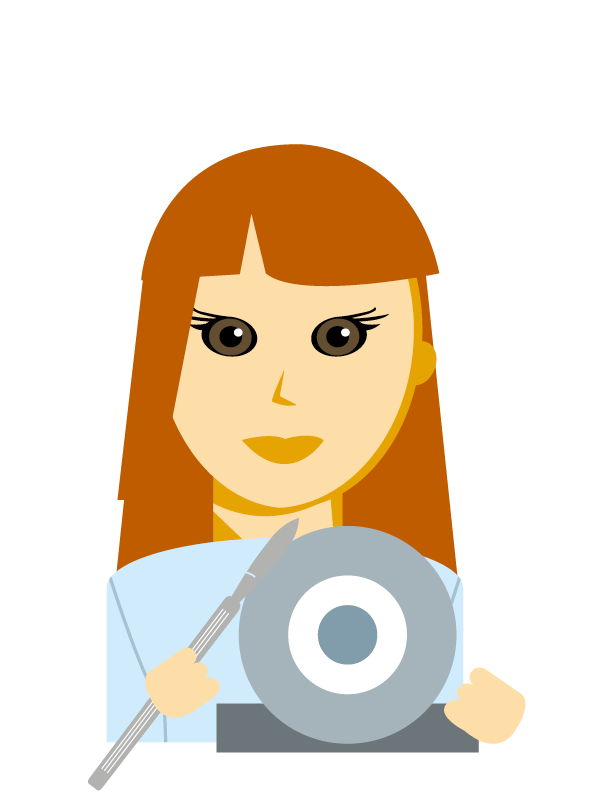 Emoji zum Beruf Chirurgie-Instrumenten-Erzeuger/in